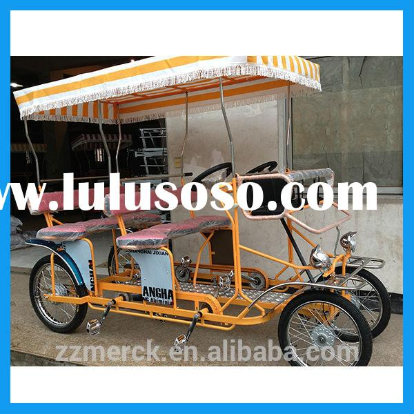 pedal 4 wheel adult bike tandem bike for touring