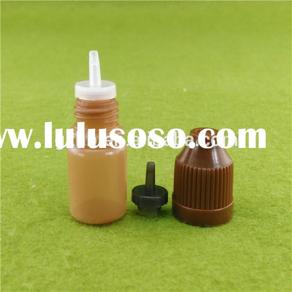 small amber brown eye dropper bottle,manufacture colorful childproof cap for pe plastic bottle 10ml