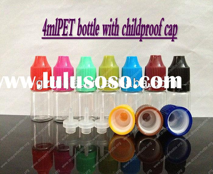 small clear plastic bottles 4ml pet plastic bottle/vials childproof cap manufacturers