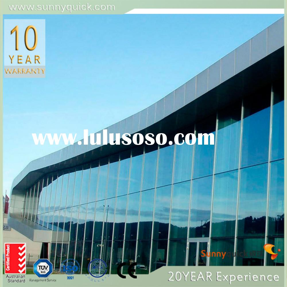 western style elegant framless double glass curtain wall unitized curtain wall system