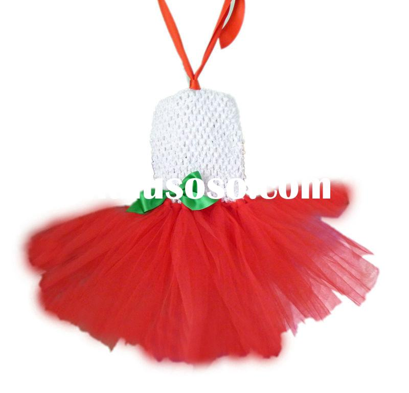 2014 girls Christmas crochet tube baby dress,popular tutu set