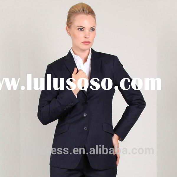 2014 latest fashion ladies office uniform design with most popular women office uniform style for th