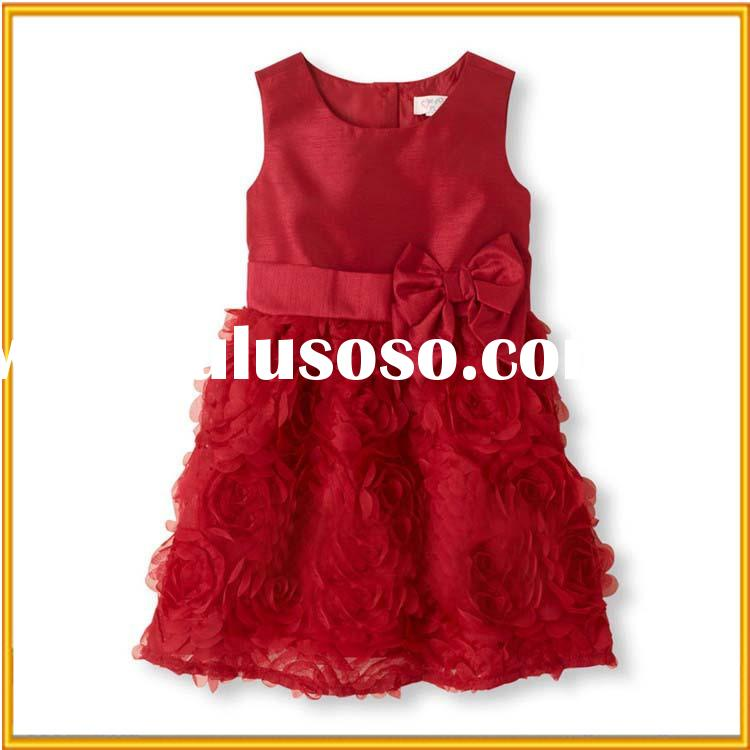 2015 Baby girl party dress children frocks designs flower girl dress lovely girls birthday dress