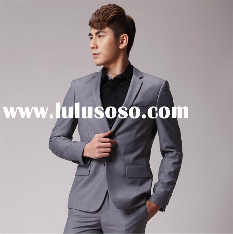 2015 new design Slim Fit Mens Suits office staff uniform suit for men