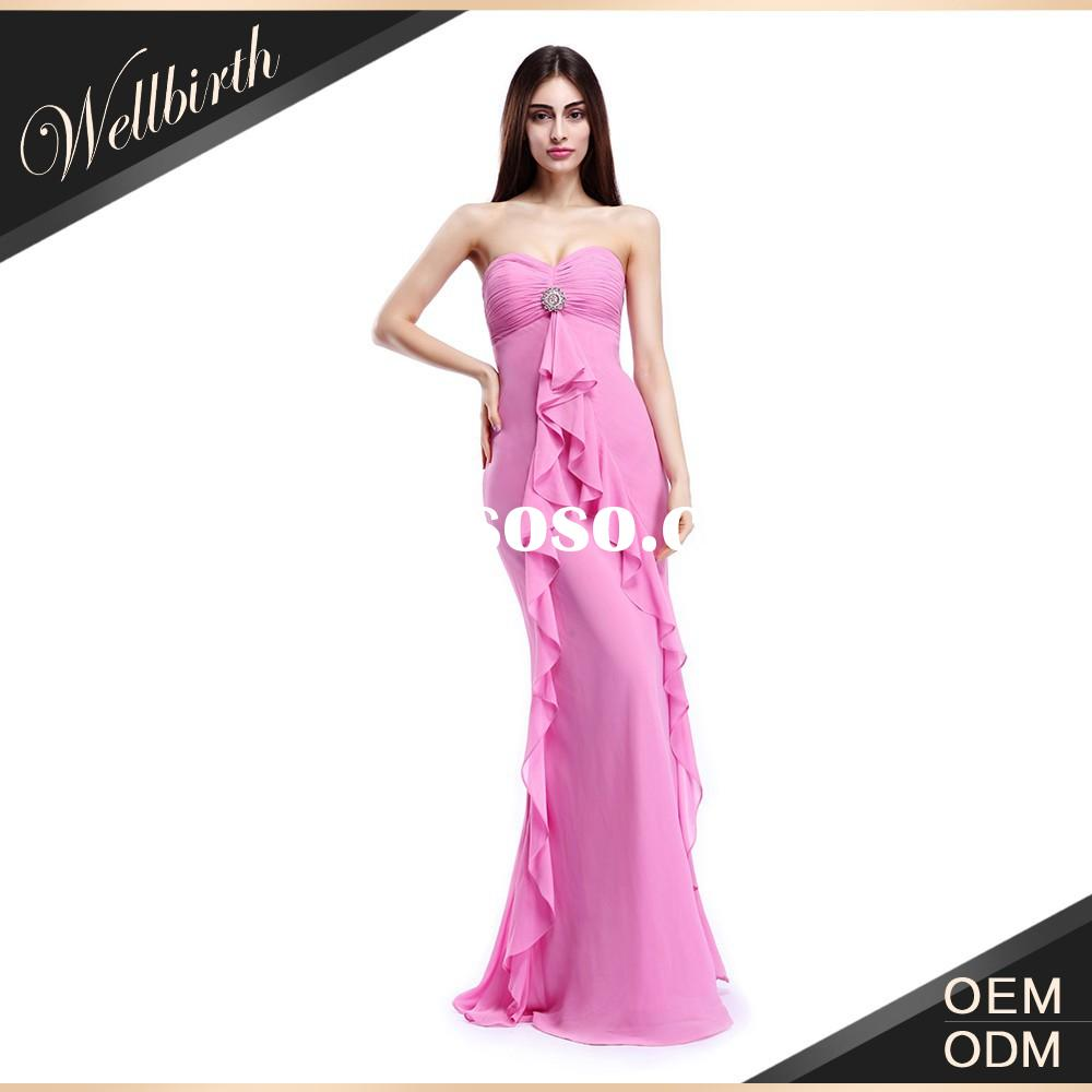 Beautiful Pink Color Chiffon Latest Formal Dress Patterns for Young Ladies