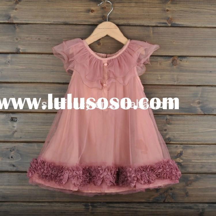 Birthday dress for baby girl party children frocks designs QGD-5053