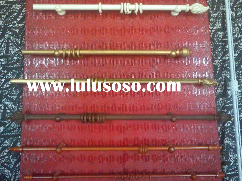 Curtain accessories wooden decorative curtain rod end caps