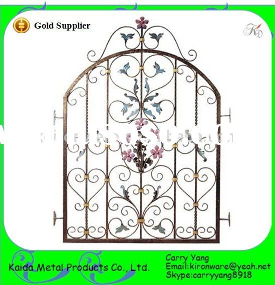 Decorative Metal Flowers Wrought Iron Window Grill Design, Metal Window Grill Design
