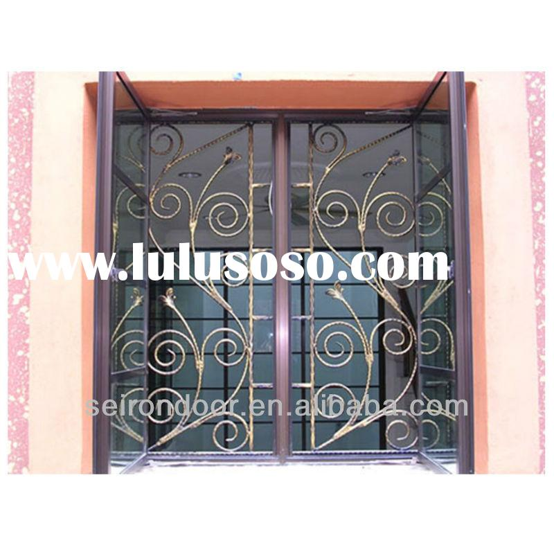Decorative Wrought Iron Security Window Grill Design