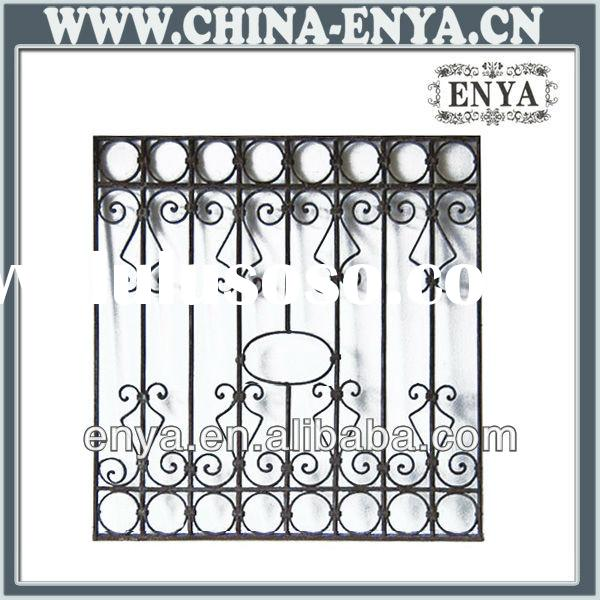 Decorative wrought iron window grill design