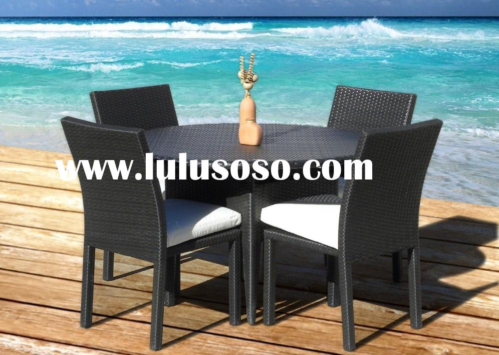 Dining set Outdoor Patio Wicker Furniture New 5 pcs Round Dining set