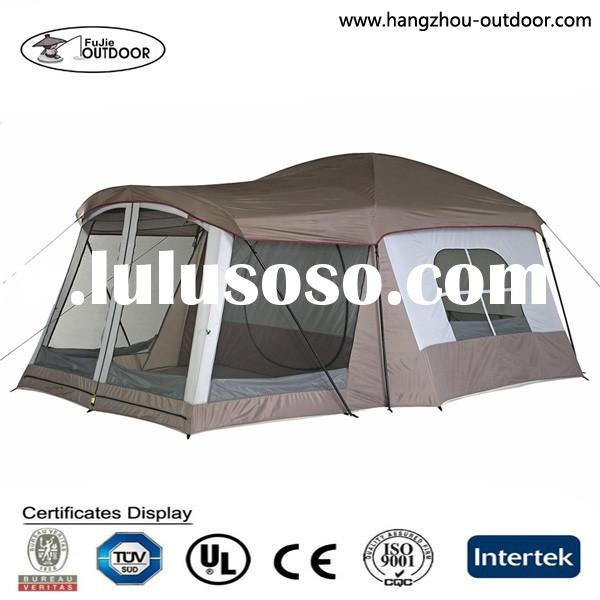 European 8 Persons Large Luxury Wind Resistant Family Camping Tent