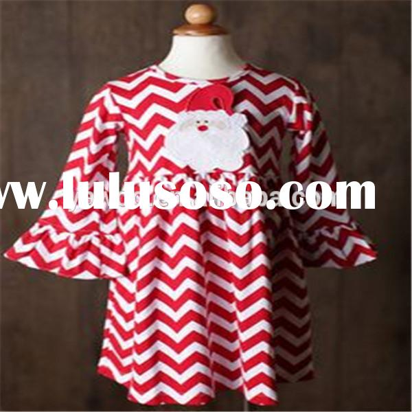Fancy Frocks For Baby Girls Party Dress Design Boutique Casual Wear Chevron Santa Kids Chriistmas Pa