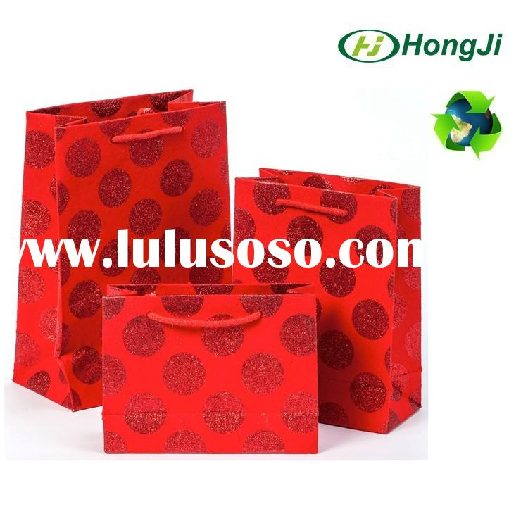 Fantastic decorative paper bags for Xmas 3D christmas gift bag