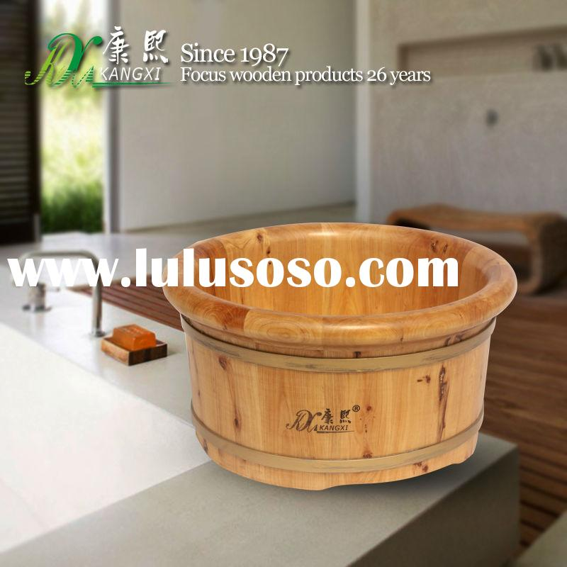 Gift of Love foot soak basin, wooden foot massage wash tub,gift foot spa wash basin