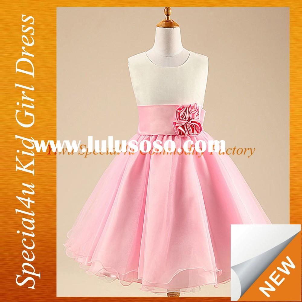 Girls pink frock design baby girl party dress children frocks designs SFUBD-938