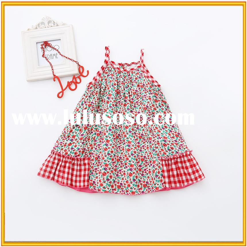 Korean cotton Sling floral baby girl party dress latest design baby frock