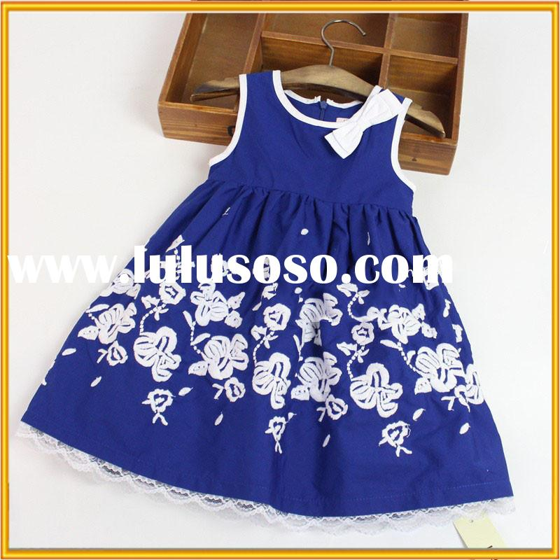 Korean cotton floral dress baby girl party dress latest design baby frock