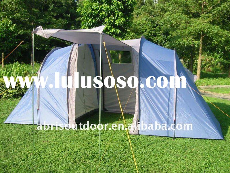 LARGE 6 PERSON TUNNEL FAMILY CAMPING TENT WITH TWO ROOM
