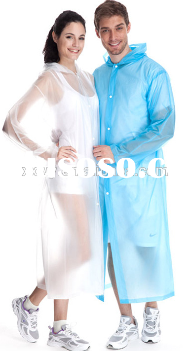 Ladies Transparent Vinyl Fashional Cheap Prices Plastic PVC Raincoat