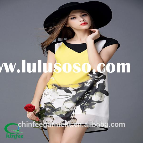 Latest Printing Patterns Casual Dress For Ladies