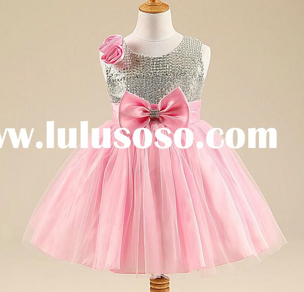 New 2015 children party dress baby girl party dress children frocks designs wholesale baby tutu dres