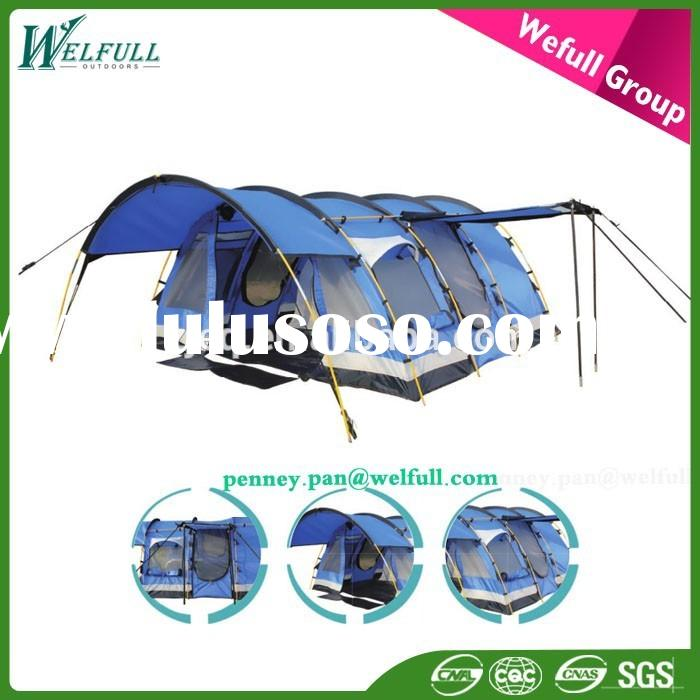 OEM 6 Person Waterproof military Large outdoor inflatable Luxury Family Camping Tent