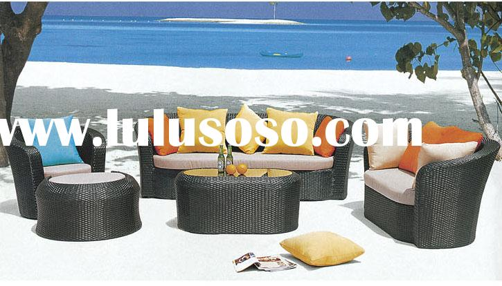 Outdoor Patio Furniture wicker furniture set outdoor rattan/wicker sofa daybed set
