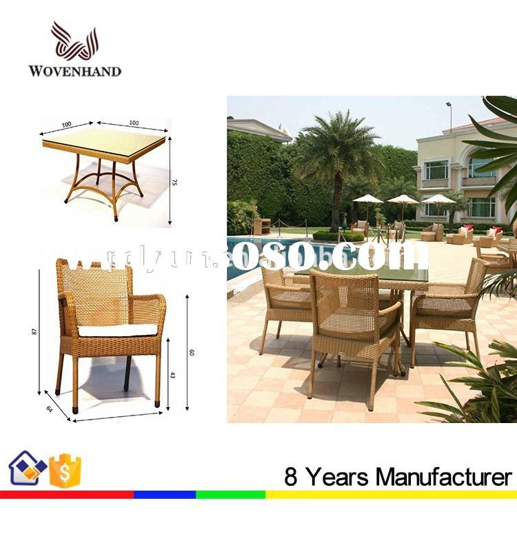 Patio furniture wicker table outdoor dining table set