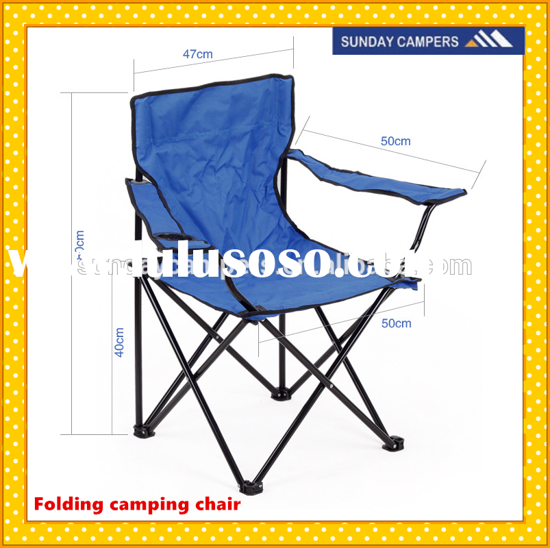 Rocking camping chair heavy duty Folding beach chair With cup holder