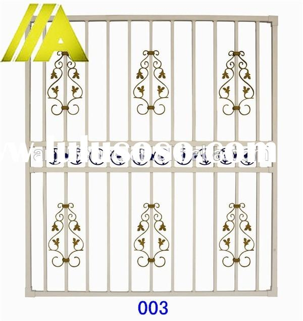 SW-003 Decorative Wrought Iron Window Grill Design made in china