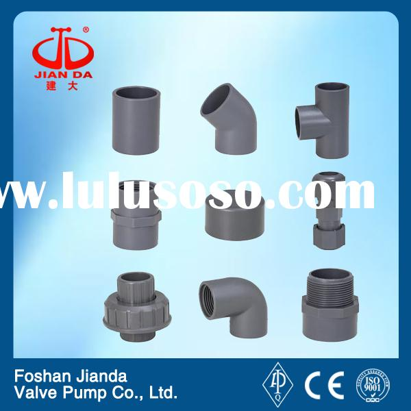 grey 1 inch pvc pipe fittings for water supply system