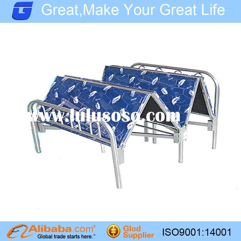 hotel bedroom furniture steel folding bed with mattress/folding bed z01