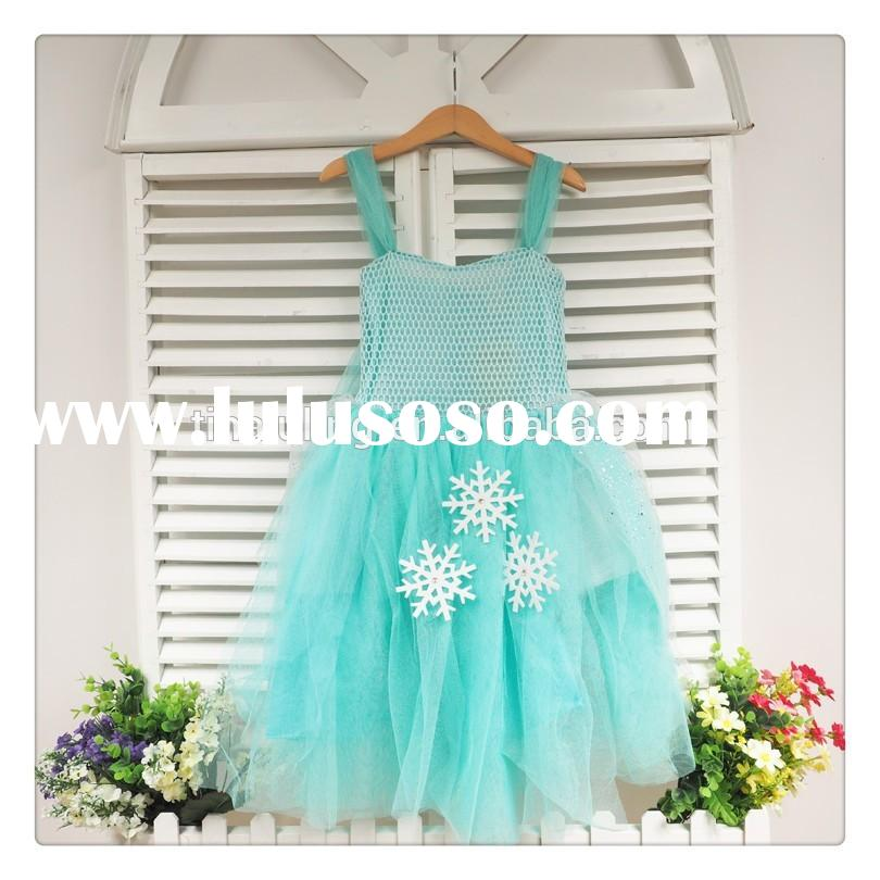 new 2015 baby girls crochet dress kids christmas dress wholesale