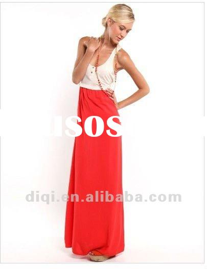 new summer maxi long dresses for mature ladies in 2013 summer