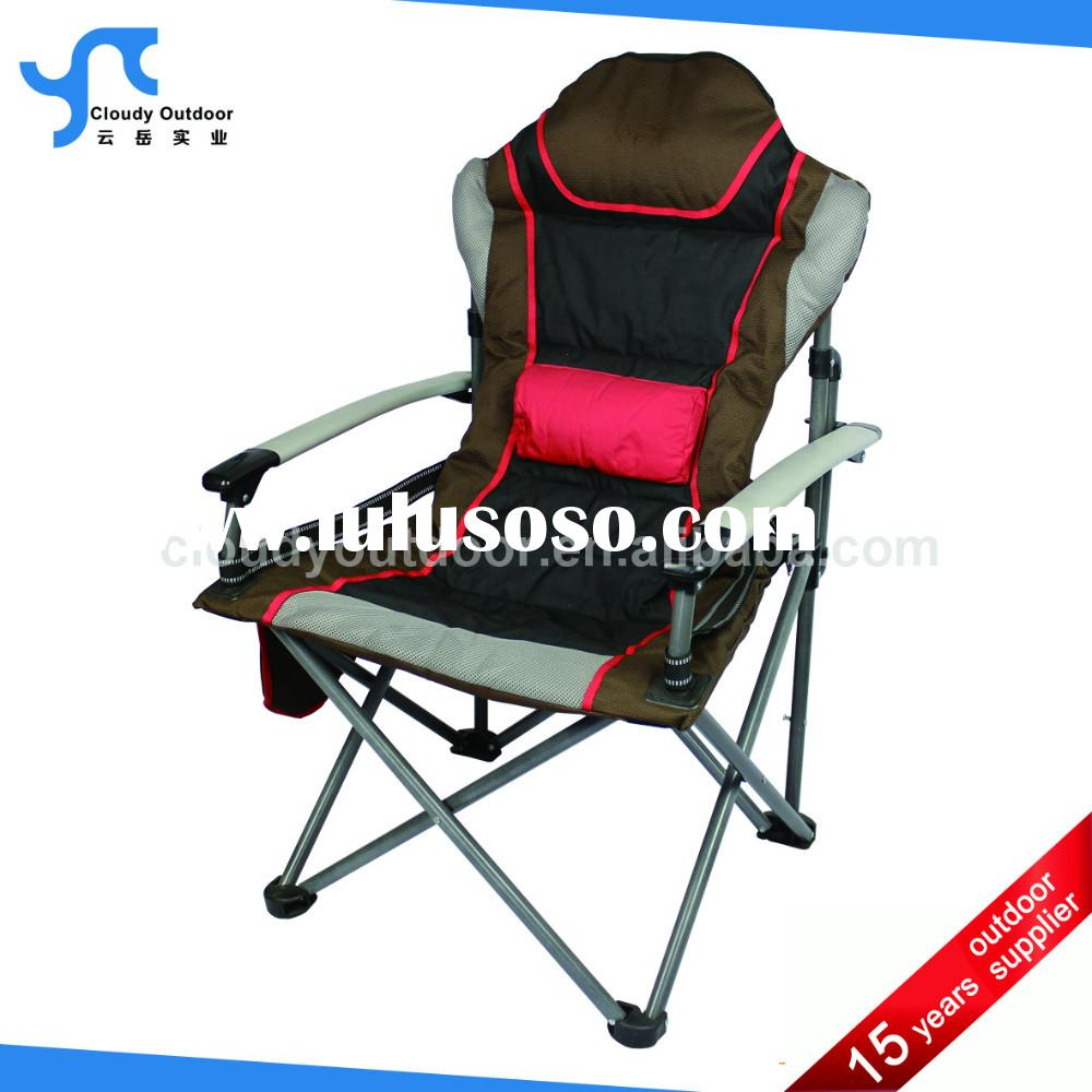 padded folding heavy duty camping chair with armrest