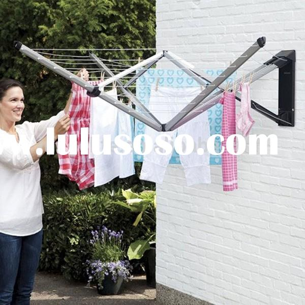 wall mount outdoor folding aluminium clothes line airer