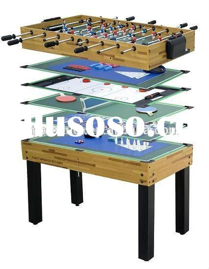 10 in 1 kid's household play multi games pool football table