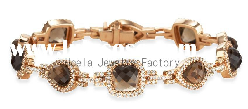 2014 Top Sale Stylish Gemstone Jewelry Wholesale new 14 karat gold chains for women
