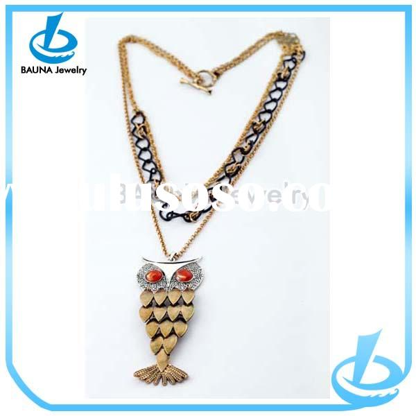 2014 fashion jewelry 14k gold chain necklace design for women