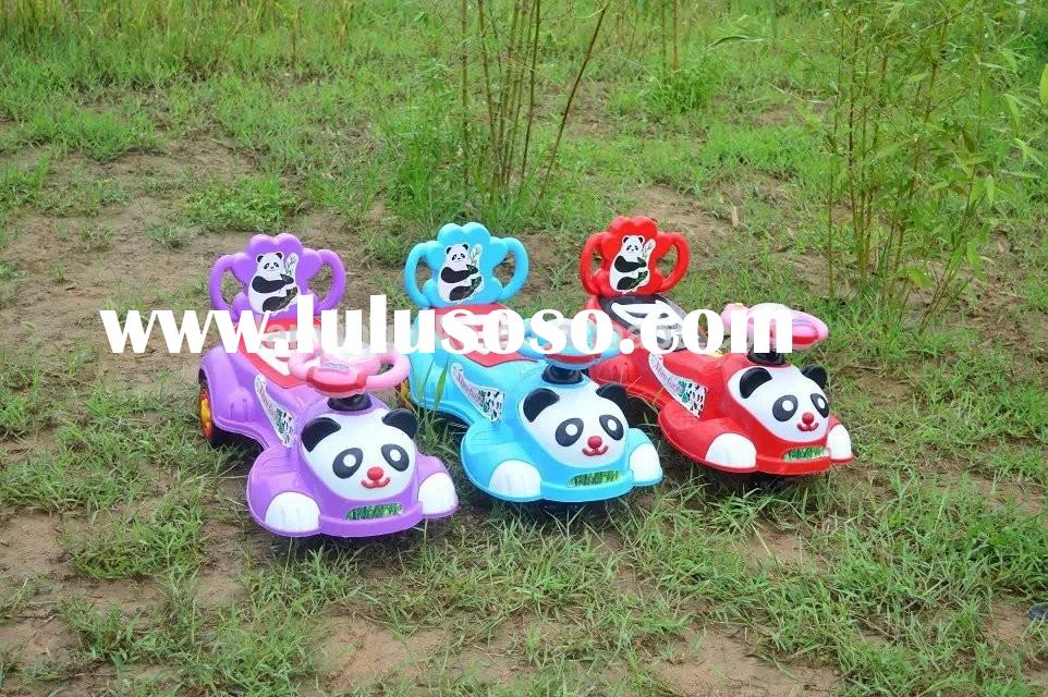 2015 top selling cartoon panda model cheap swing cars for little baby