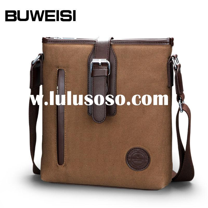 BUWEISI custom printed vintage school canvas messenger bags for teens