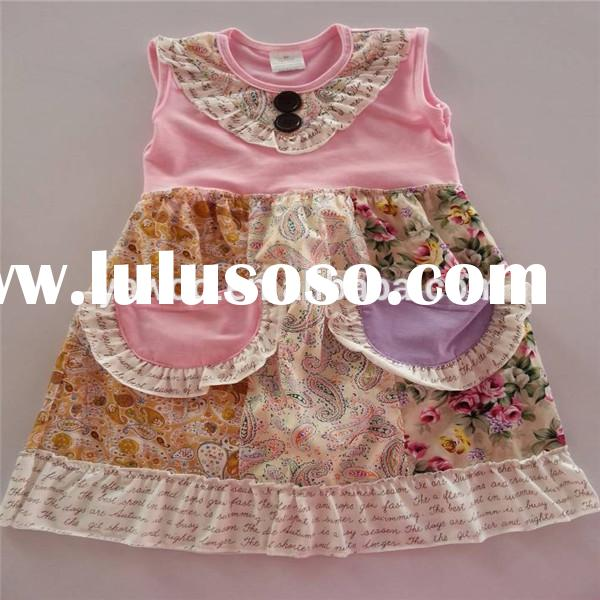 Boutique Girls Frock Designs For Party Fancy Organic Cotton Casual Dresses For Girls Of 6 Years Old