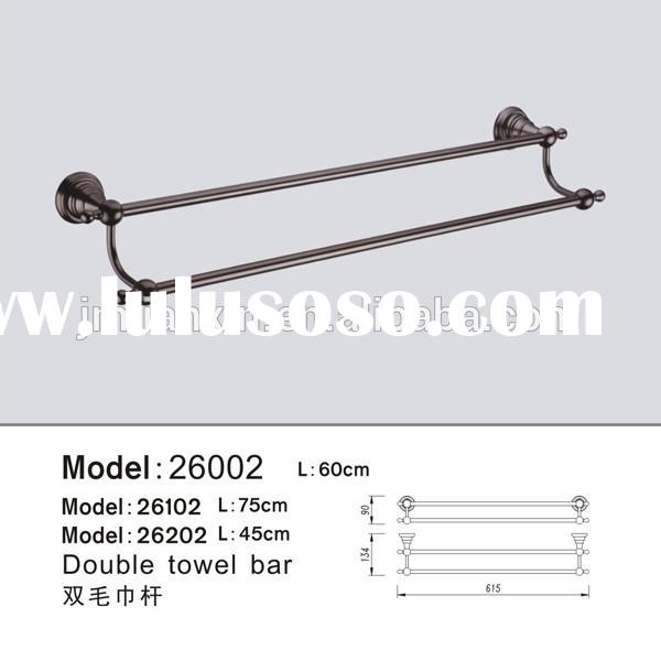 Classical style bathroom brass matt black double towel bars