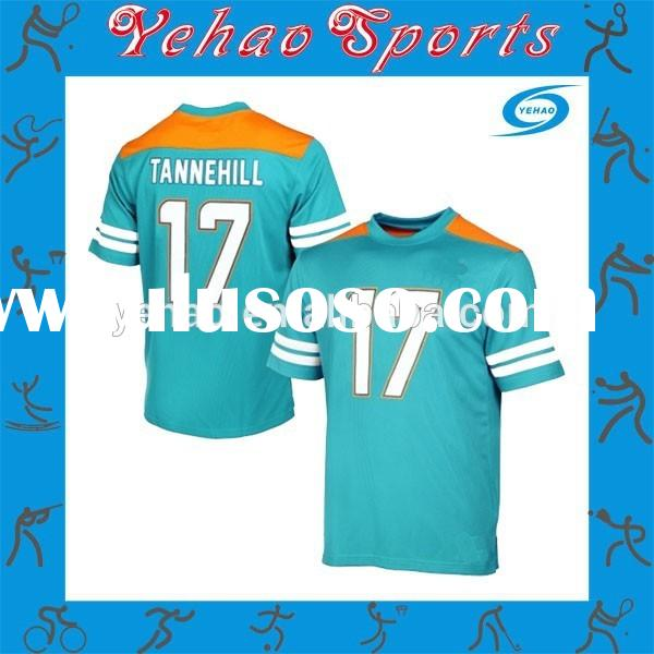 Custom made college sublimated stripe American football jersey