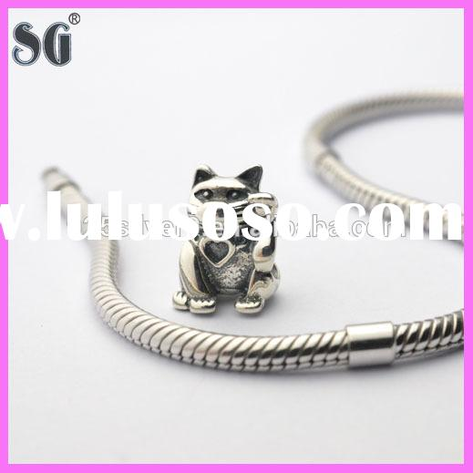 Fashion accessory Animals Plutus cat beads jewelry wholesale beads for charm bracelets