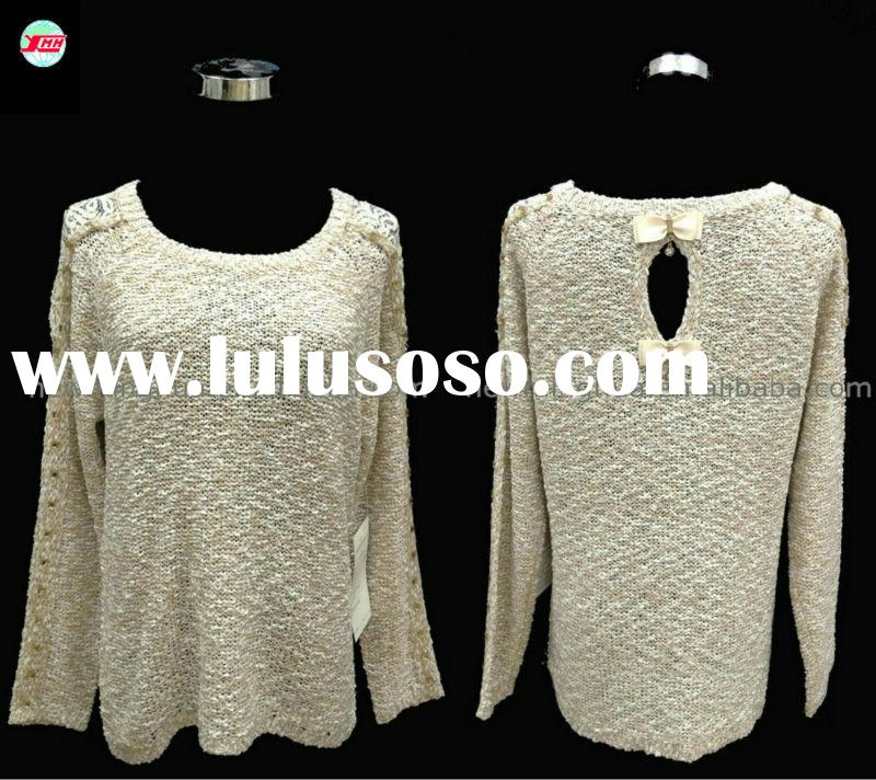 Fashion sweater for old woman new yarn long sleeve round collar Winter Autumn sweater