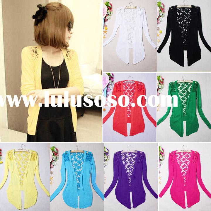 Fashion sweater for women 2014 Floral Hollow Thin Knitting womens cardigan sweater wholesale