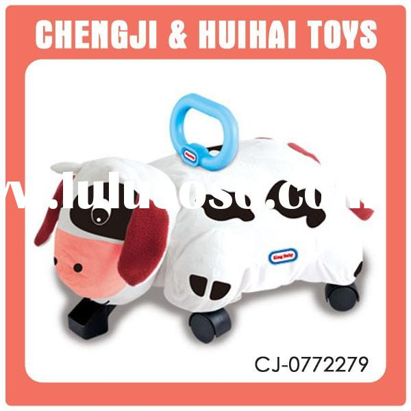 Hot funny cartoon little cow ride on car toy baby slide funny toy for sale