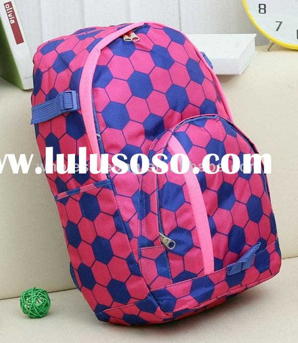Hot Sale Football Printing 600D Polyester Backpack Bag School Bag for Teenage High School Guys Girls
